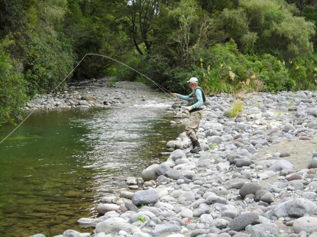 Paul fishing Waiotaka