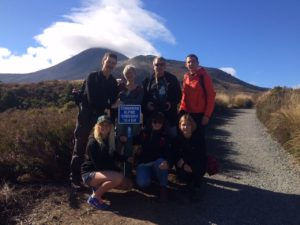 Hannah escorting on Tongariro Crossing