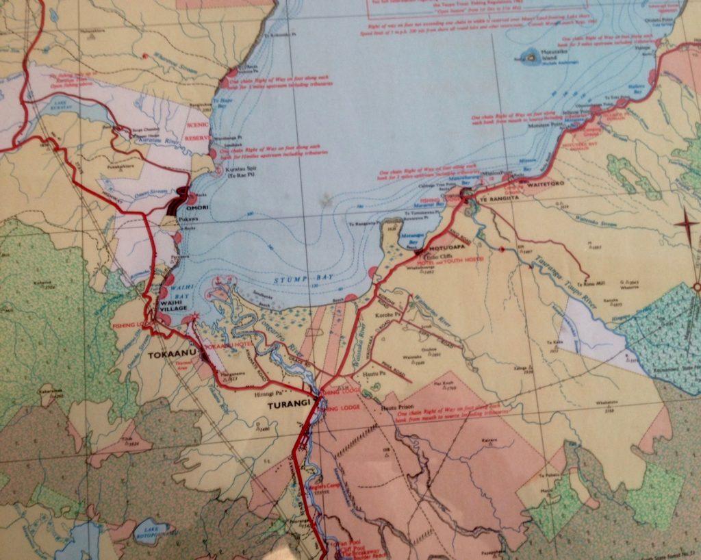 1967 Turangi map