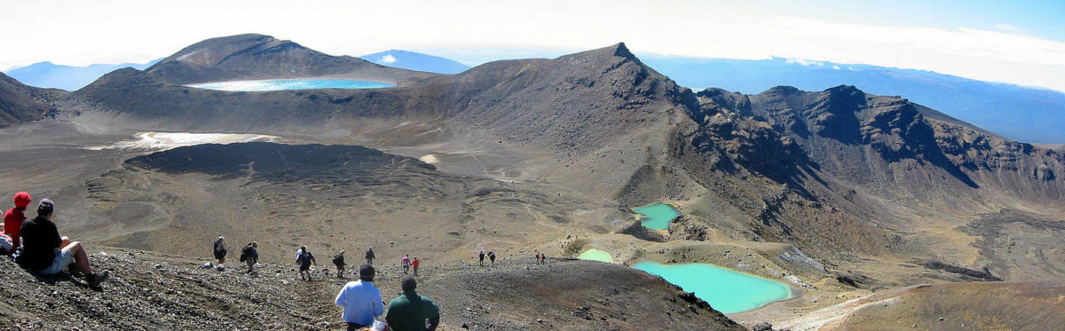 Tongariro Crossing Emerald alnd Blue Lakes